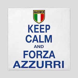 Keep Calm and Forza Azzurri Queen Duvet