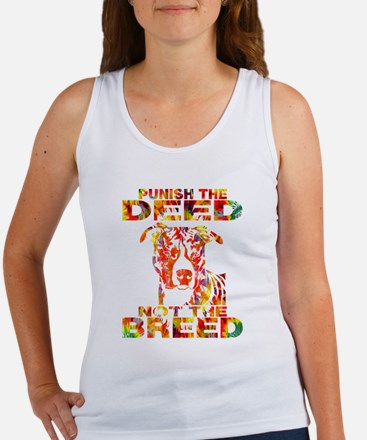 PUNISH THE DEED NOT THE BREED TD2E Tank Top