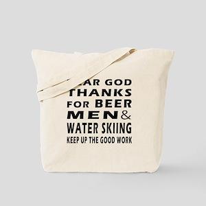 Beer Men and Water Skiing Tote Bag