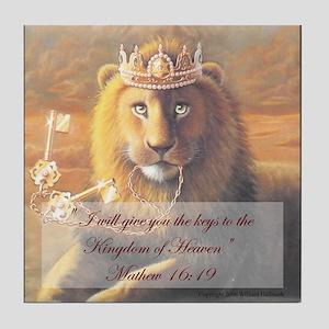 """Key to the Kingdom"" Fine Art Tile Coaster"