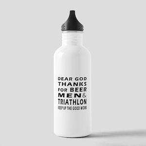 Beer Men and Triathlon Stainless Water Bottle 1.0L