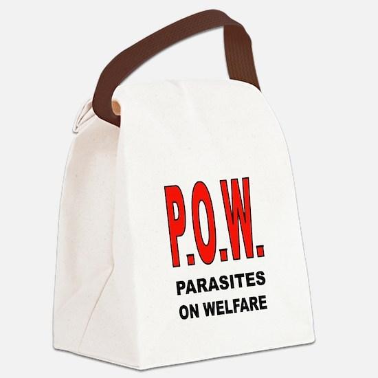 WELFARE PARASITES Canvas Lunch Bag