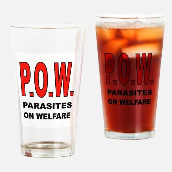 WELFARE PARASITES Drinking Glass