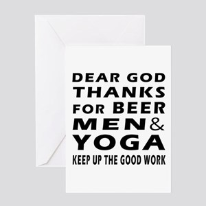 Beer Men and Triathlon Greeting Card