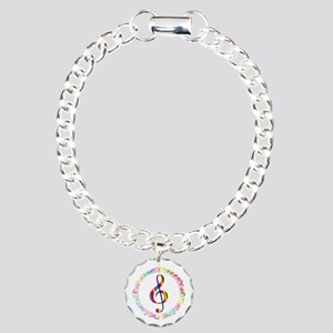 Music in the Round Charm Bracelet, One Charm