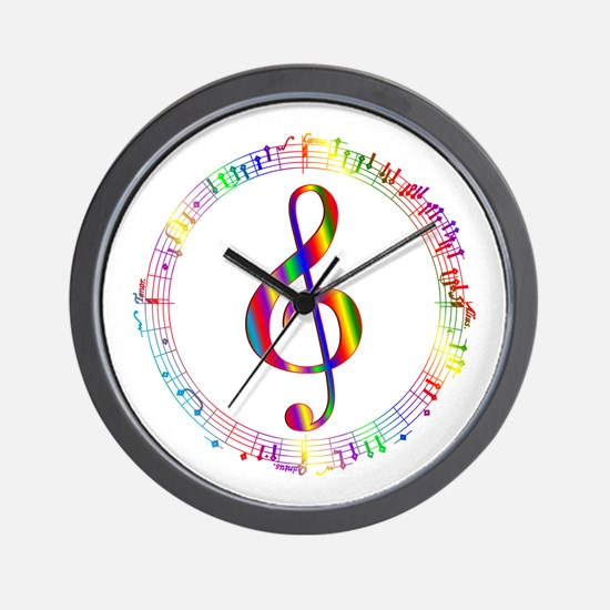 Music in the Round Wall Clock