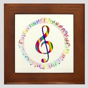 Music in the Round Framed Tile