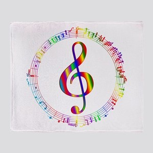 Music in the Round Throw Blanket