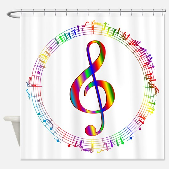 Music in the Round Shower Curtain