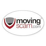 Movingscam.com Logo Sticker