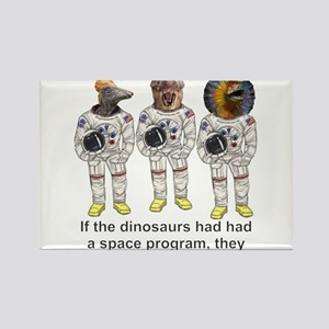 Space Dino 4 Rectangle Magnet
