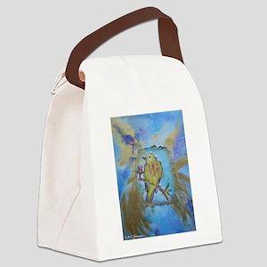 Yellow Warbler! Bird art! Canvas Lunch Bag