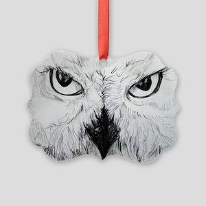 Owl! Wildlife, bird art! Ornament