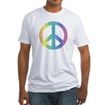 Love & Peace Fitted T-Shirt