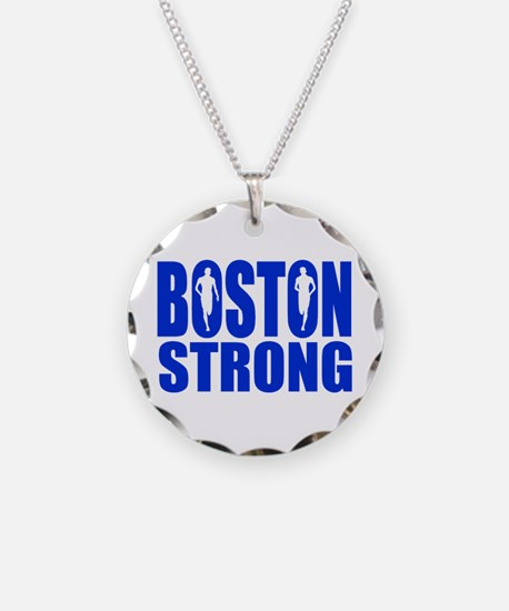 Boston Strong Blue Necklace