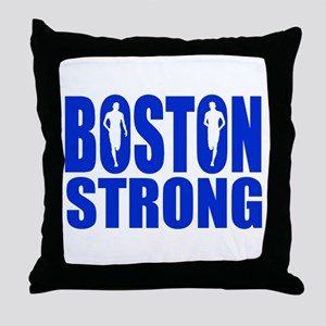 Boston Strong Blue Throw Pillow