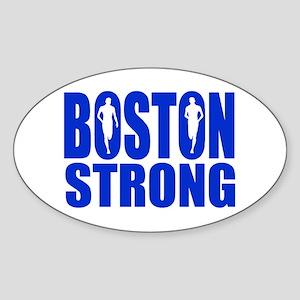 Boston Strong Blue Sticker (Oval)
