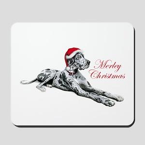 Great Dane Merley Xmas UC Mousepad