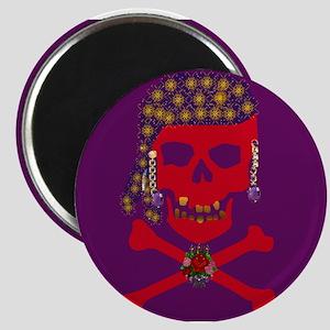 Red Pirate Skull & Crossbones Magnet