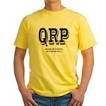 QRP front - HFPACK back Ham Radio Yellow T-Shirt