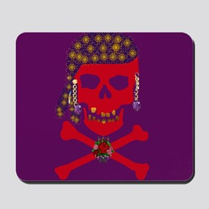 Red Pirate Skull & Crossbones Mousepad