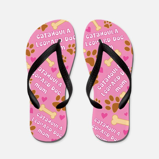 Catahoula Leopard Mom Gift Flip Flops