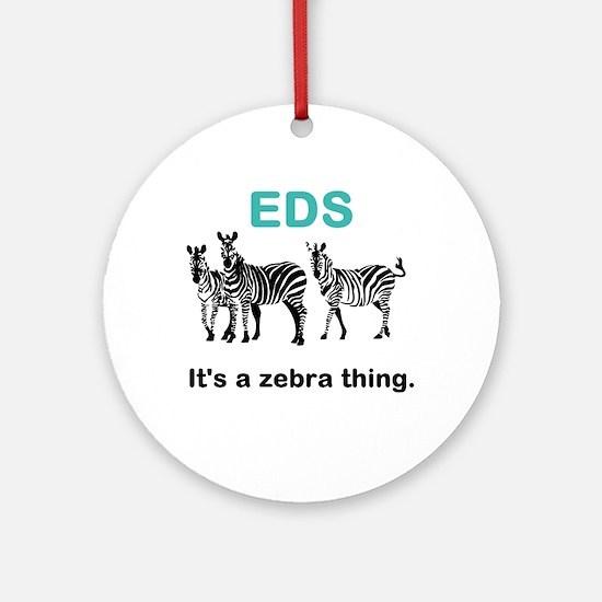 Zebra Thing Round Ornament