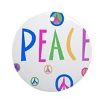 Multicolor Peace Symbols & Peace Ornament (Round)