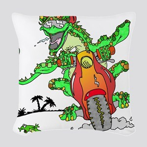 lizard Woven Throw Pillow