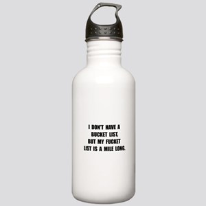 Bucket Fucket List Water Bottle