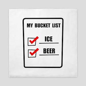Bucket List Beer Queen Duvet