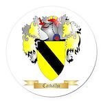 Carvalho Round Car Magnet