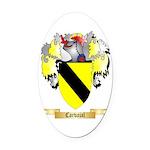 Carvajal Oval Car Magnet
