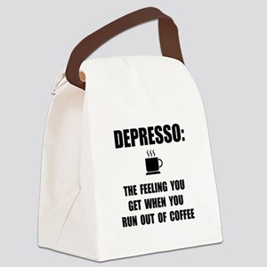 Depresso Coffee Canvas Lunch Bag