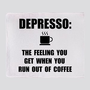 Depresso Coffee Throw Blanket