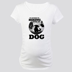 I'd Rather Be Hiking With My Dog Scene Maternity T