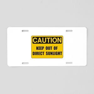 Direct Sunlight Aluminum License Plate