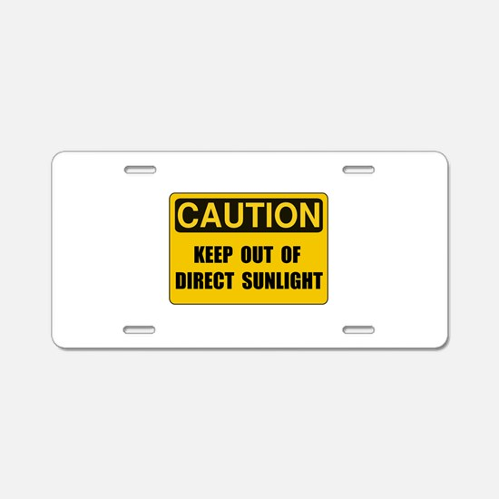Direct Sunlight Aluminum License Plate