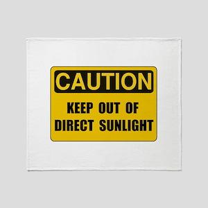 Direct Sunlight Throw Blanket