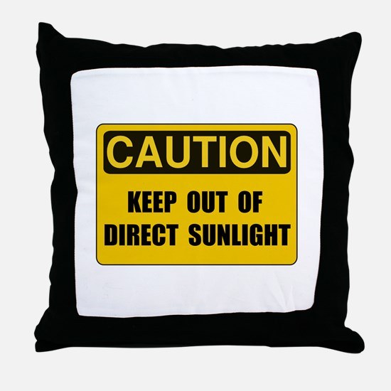 Direct Sunlight Throw Pillow