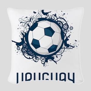 Uruguay Football Woven Throw Pillow