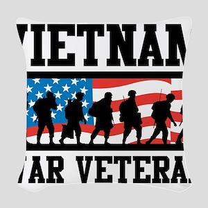 Vietnam War Veteran Woven Throw Pillow