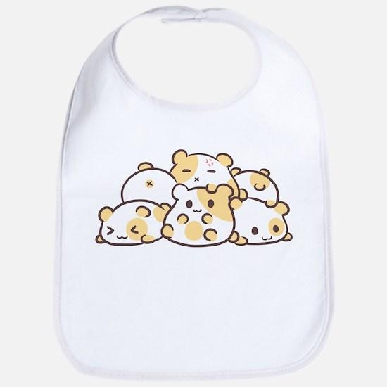 Kawaii Hamster Pile Bib