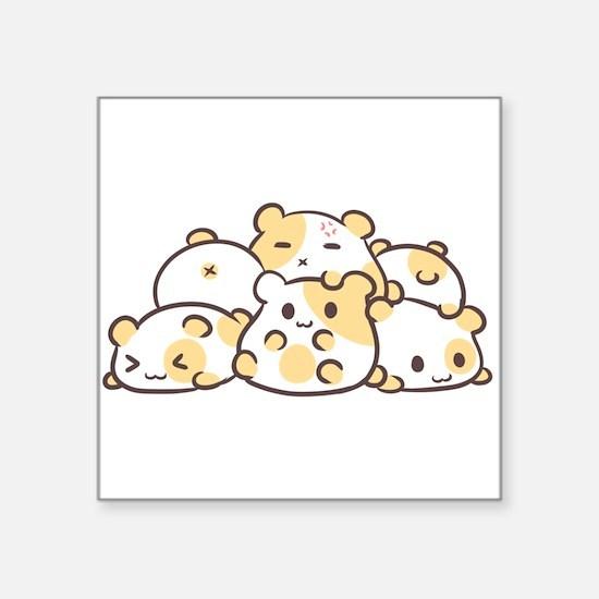 Kawaii Hamster Pile Sticker