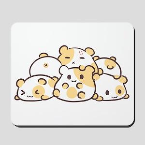 Kawaii Hamster Pile Mousepad