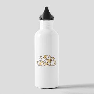 Kawaii Hamster Pile Water Bottle