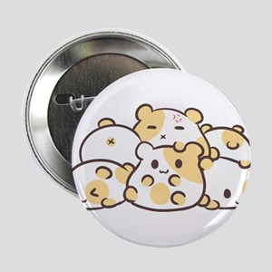 "Kawaii Hamster Pile 2.25"" Button"