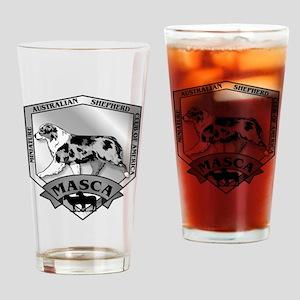 MASCA Logo B&W Drinking Glass