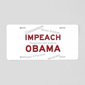 Impeach 2 Aluminum License Plate