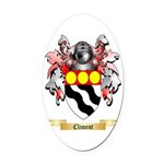Climent Oval Car Magnet